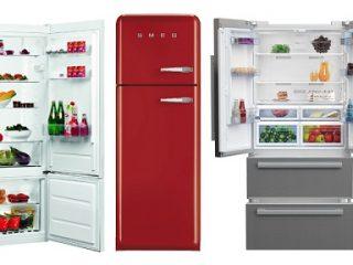 3 modèles différents de réfrigérateurs : combiné, 2 portes et grande largeur