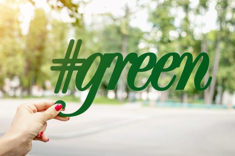 Main tenant un #green pour inciter au recyclage